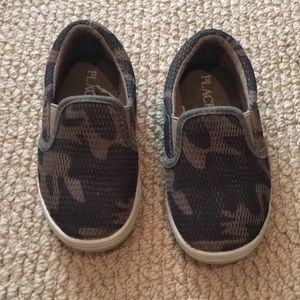 Camo Children's Place Slip Ons - size 7